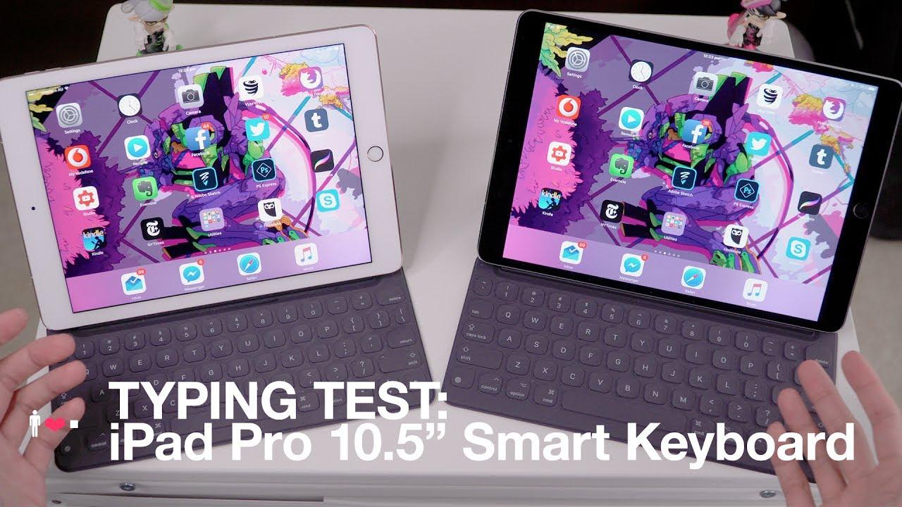 typing test ipad pro 10 5 39 smart keyboard vs 2016 9 7. Black Bedroom Furniture Sets. Home Design Ideas
