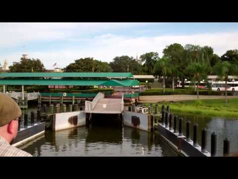 Ferry Boat from TTC to Magic Kingdom Walt Disney World 2011 HD