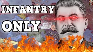 Infantry Only In Hearts Of Iron 4  -The Soviet Strategy (HOI4 Challenge)