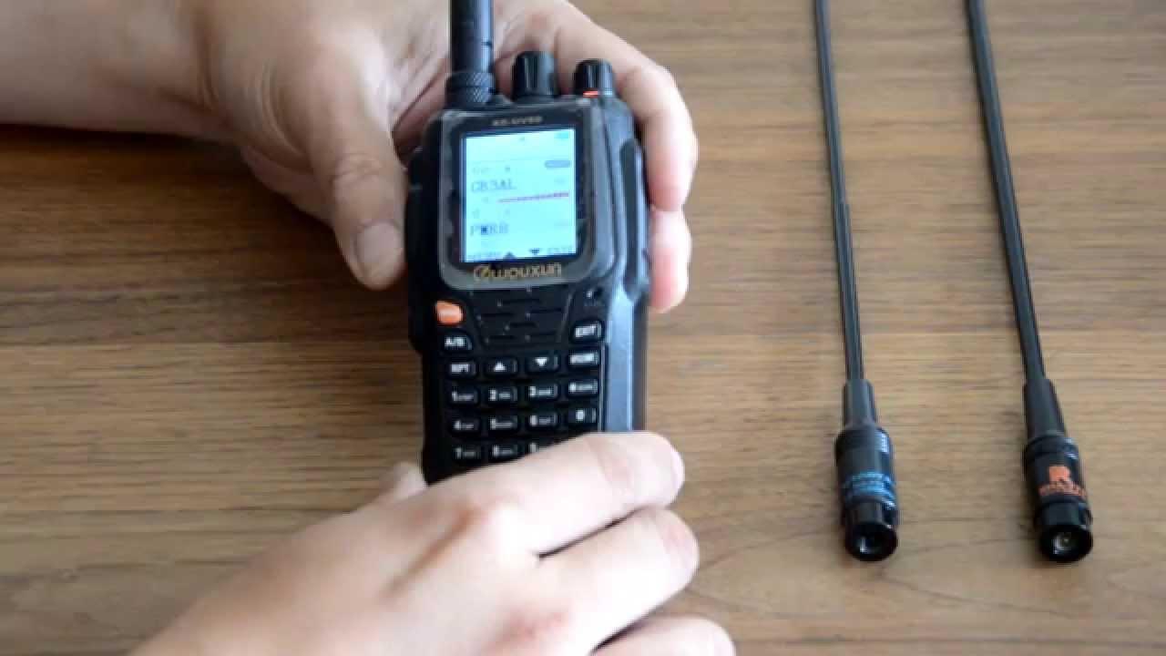 Wouxun KG-UV8D antenna test Nagoya NA771 Retech RHA771