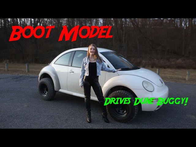 Leather Boot Model Introduces Project Scarab 1998 VW Beetle Dune Buggy