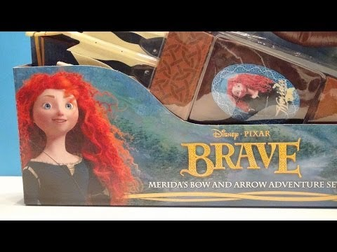 DISNEY PIXAR BRAVE MERIDA'S BOW AND ARROW ADVENTURE PLAY SET VIDEO TOY REVIEW