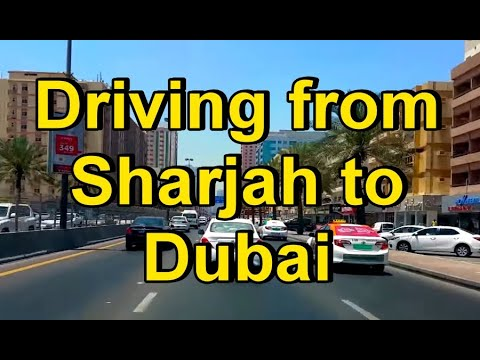 Driving from Sharjah to Dubai 15th May 2016 الشارقة إلى دبي