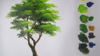 How to paint a tree in Acrylics lesson 5