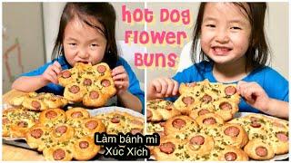 Cách Làm Bánh Mì Hoa XÚC XÍCH ✿ HOT DOG FLOWER BUNS | mattalehang