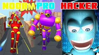Knock'em All Noob Vs Pro Vs Hacker