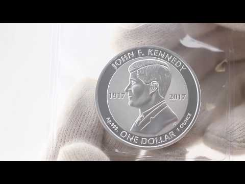 John F. Kennedy Centenary of Birth 1 Oz. Silver Coin from The British Virgin Islands from EMK.com
