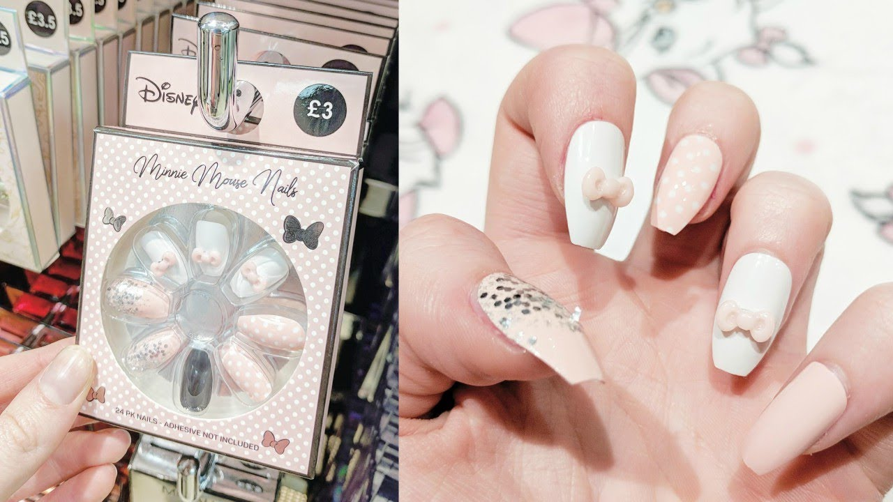 PRIMARK DISNEY MINNIE MOUSE ACYRLIC FALSE NAILS (DIY) - YouTube