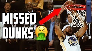 NBA Embarrassing Missed Dunks Video