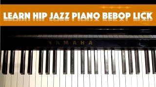 Learn Hip Jazz Piano Bebop Lick - Get tips for correct jazzpiano fingering | Jazz4Piano