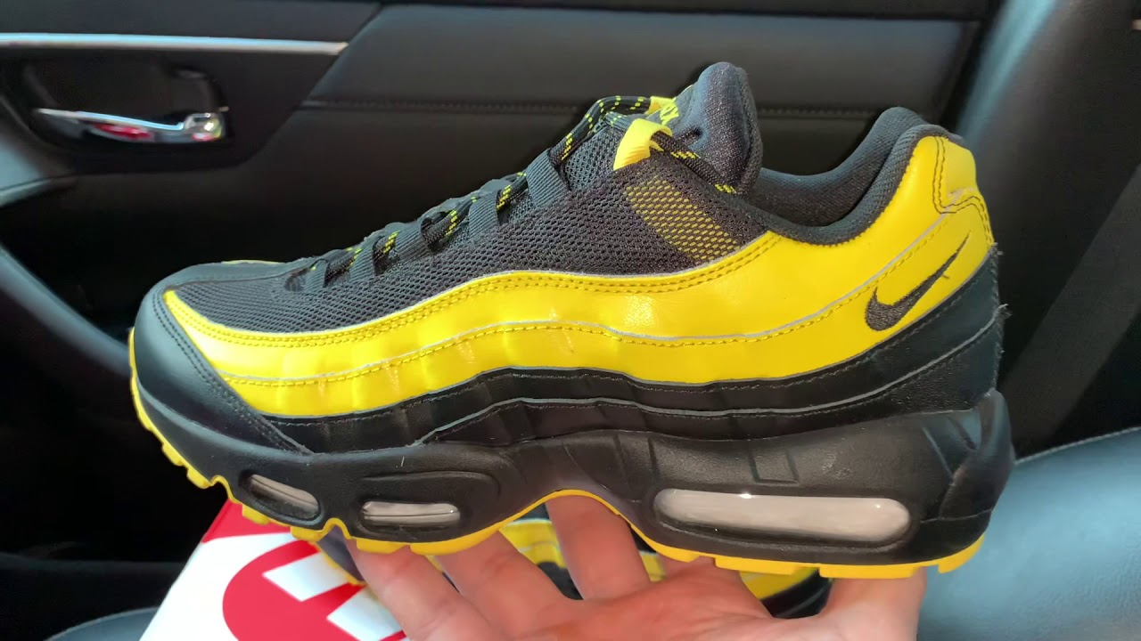 low priced 5b6f1 bf8bd Nike Air Max 95 Frequency Pack black yellow shoes