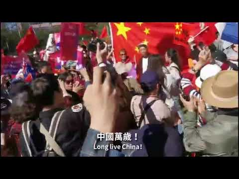 Chinese rally in Sydney street to protest Hong Kong riots