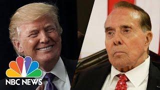 President Donald Trump Attends Senator Bob Dole's Congressional Gold Medal Ceremony | NBC News thumbnail