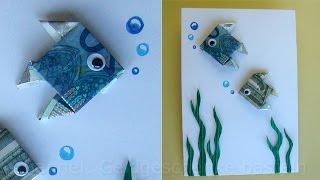 Geldschein falten: Fisch zum Geldgeschenke basteln - Origami