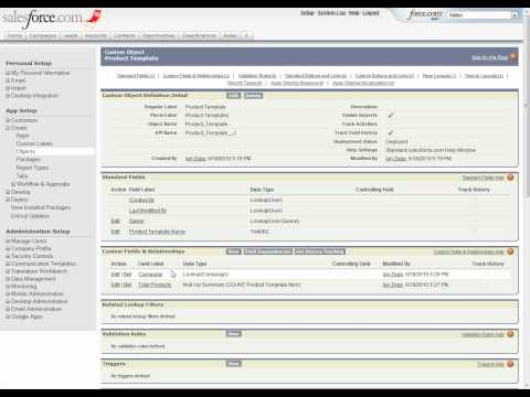 Building A Salesforce Com Application: From Idea To