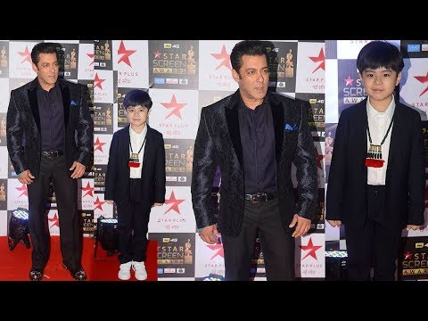 Salman Khan's Grand Entry With Tubelight Boy Matin Rey Tangu At Star Screen Awards 2017 Red Carpet