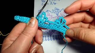Урок 44. Ажурный узор для жакета крючком. Вязание крючком.