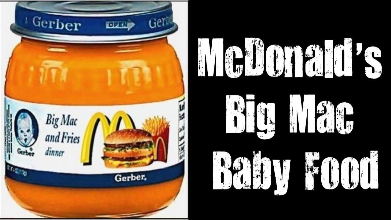 gerber baby food big mac and fries real