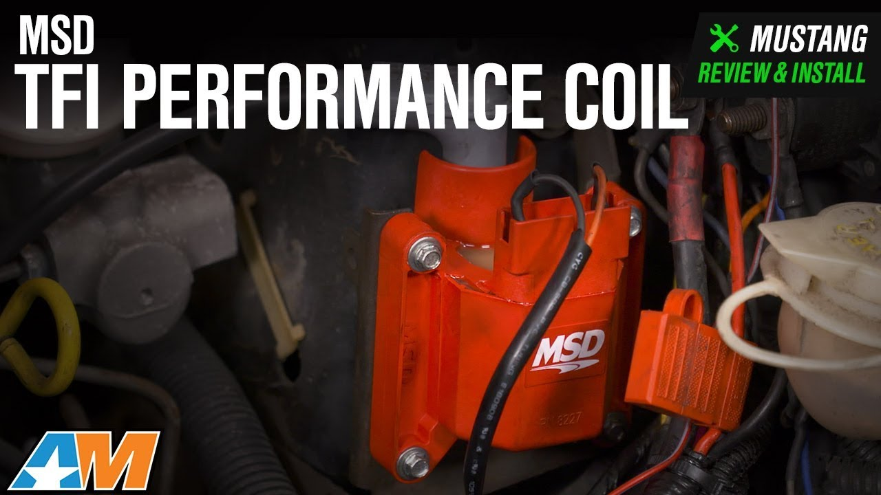 small resolution of 1986 1995 mustang 5 0l msd tfi performance coil review install