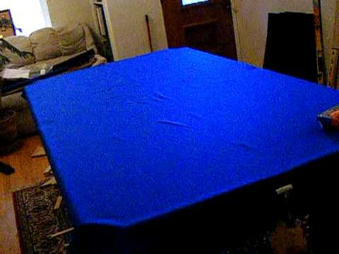 Pool Table Installation Part 9 Stretching The Felt Mpeg2video   YouTube