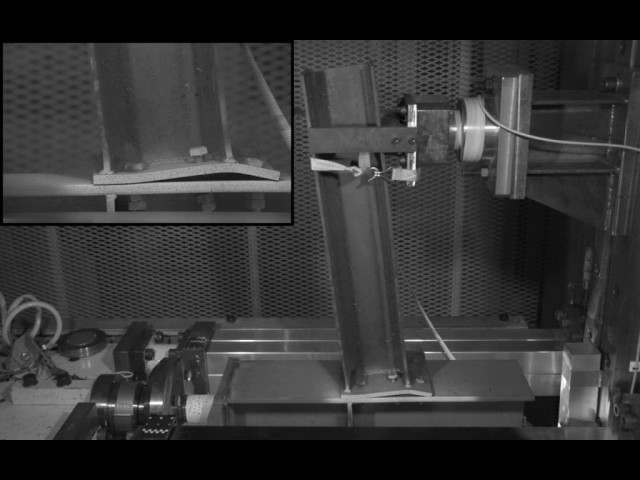 Impact test on beam-to-column joint