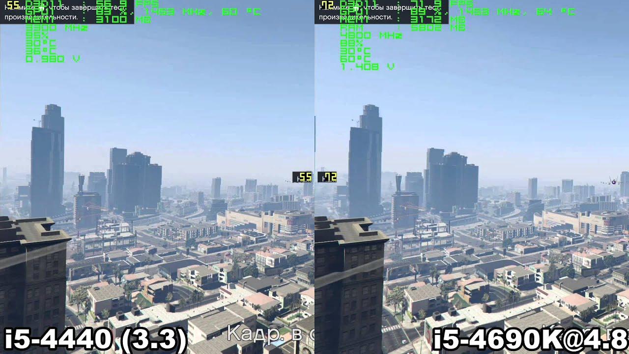 i5 4440 vs i5 4690K in GTA 5 (1080p60)