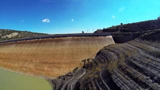 El Vado Reservoir from the air