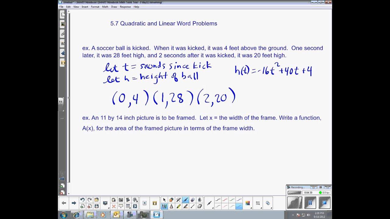 Mstc Algebra 2 Unit 1 Day 5