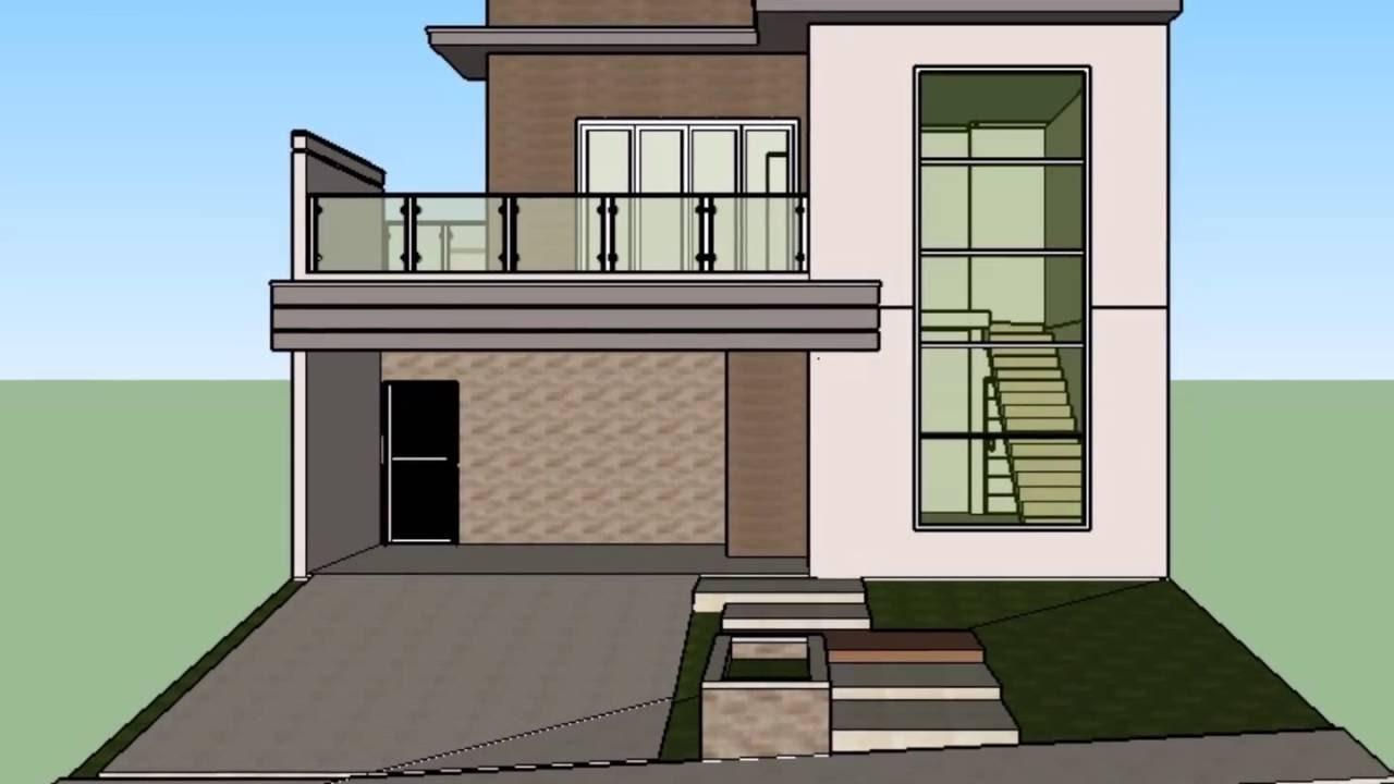 Modelo casa t rrea mezanino fachada moderna condom nio for Fachadas de casas modernas 1 pavimento