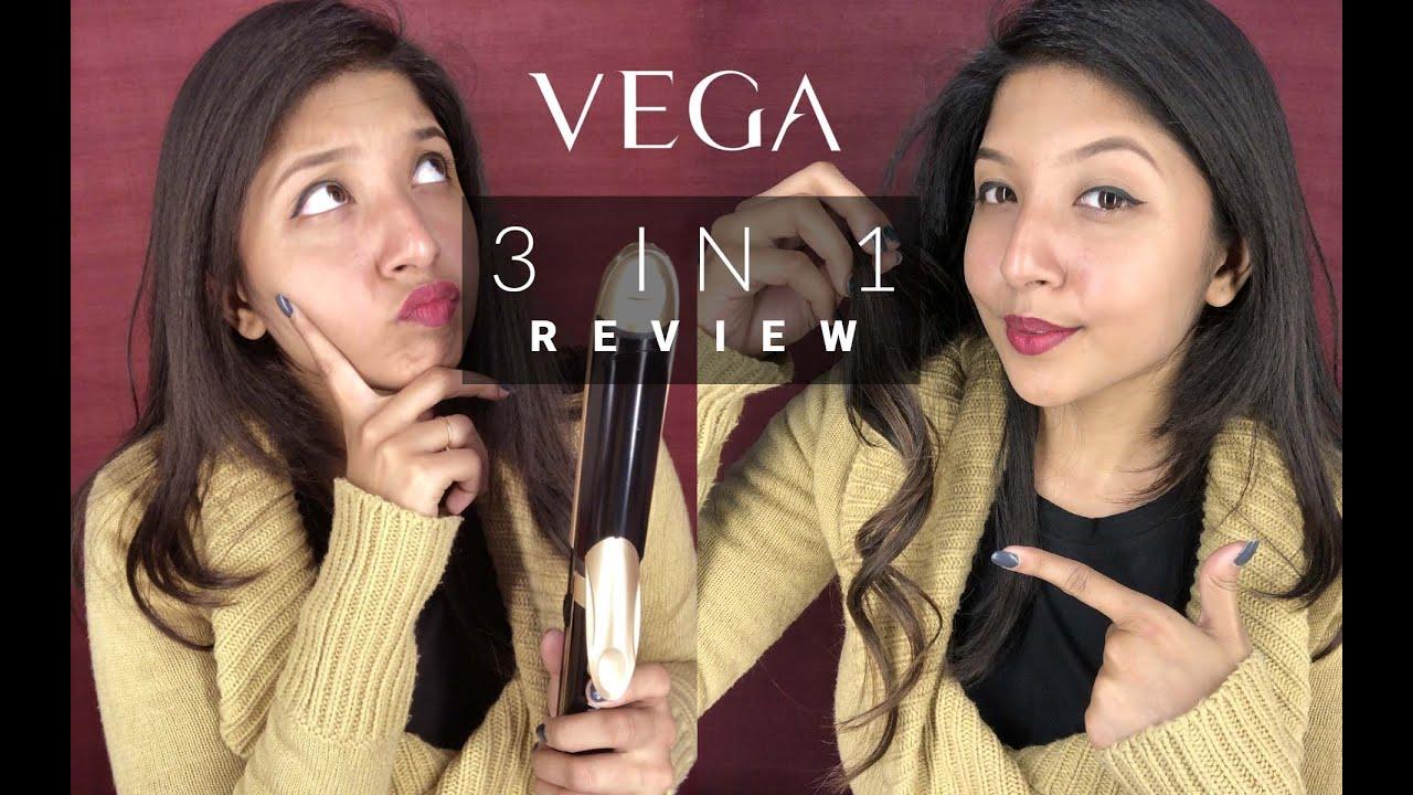 VEGA 3 in 1 Hair Styler | VEGA Hair Styler Review & Demo | Straightener Curler & Crimper all in one
