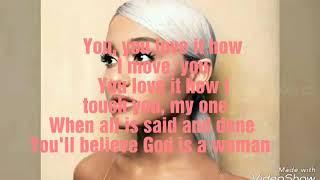 Ariana Grande - God Is A Woman  S