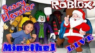 ROBLOX LIVE HOLIDAY ELEVATOR MIT SANTA Let es Play w / Jaden as MinetheJ, Kid Gamer Clean Fun