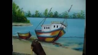 Barco Tinta a óleo e acrílica sobre tela e Tecido em Guarulhos