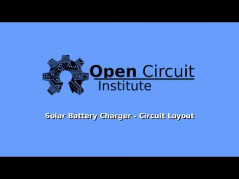 Solar Battery Charger - Circuit Layout