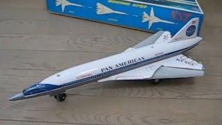 ダイヤ玩具、電動走行ボーイング2707 SST   Pan Am Boeing 2707 tin toy