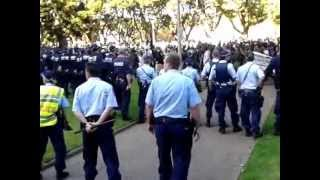 Muslim thugs in Hyde Park during Sydney riot