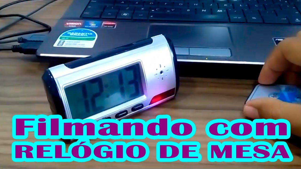 eff10dfb747 Como Usar Relógio De Mesa Espião Com Câmera - L Gyn - YouTube