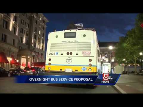 MBTA could add overnight bus service