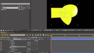 AE Basics 20: Shape Layers Part 4 - Merge Paths