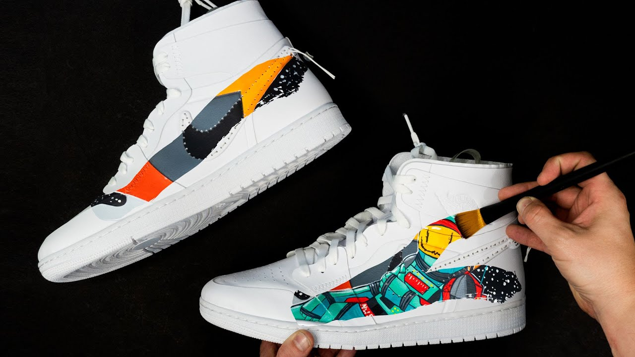Custom Air Jordan 1's | Painting Shoes