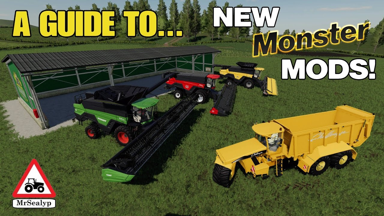 A Guide to    NEW Monster MODS! 28th March  Farming Simulator 19, PS4,  Assistance!