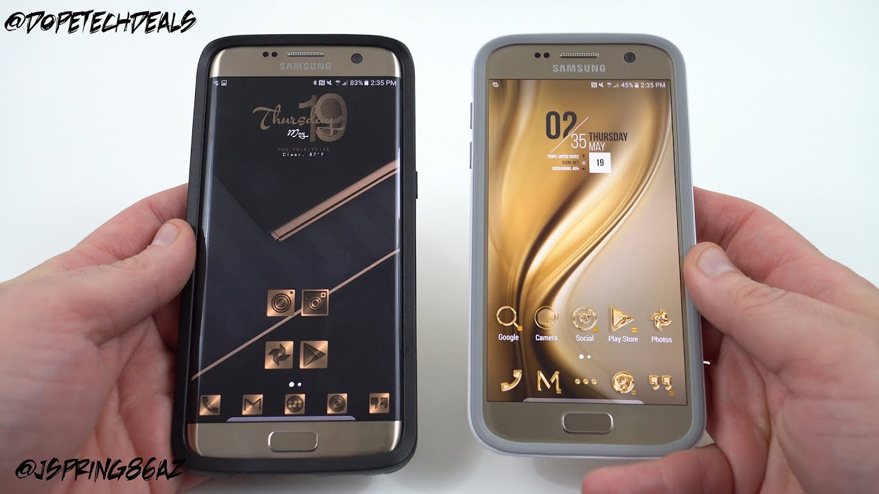 Top Android Custom Themes Galaxy S7 Edge Gold Dark And Light
