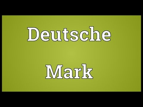 Deutsche Mark Meaning