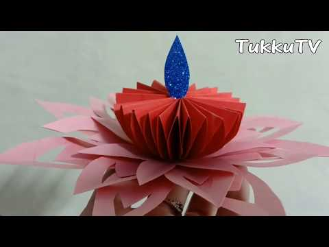 Diwali Project For School   How To Make Paper Diya Craft   Paper Crafts For School Project