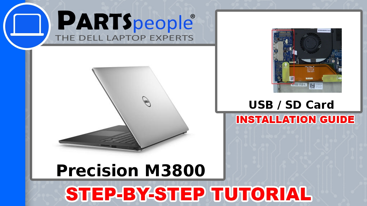 Dell Precision M3800 (P31F001) USB / SD Card Circuit Board