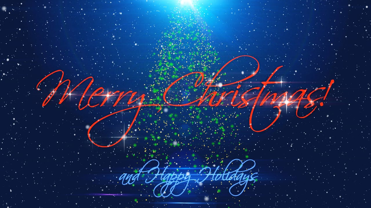 merry christmas happy holidays v 489 with timer sound effects 4k youtube - Happy Holidays And Merry Christmas