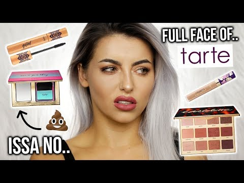 TESTING TARTE MAKEUP! FULL FACE OF FIRST IMPRESSIONS, TUTORIAL + REVIEW!