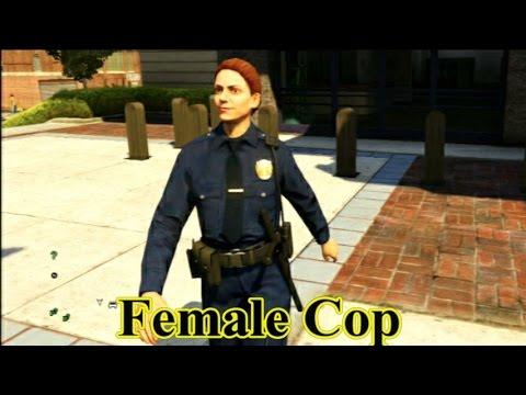 GTA V - Female LSPD Officer - Shooting Range - Golf - YouTube