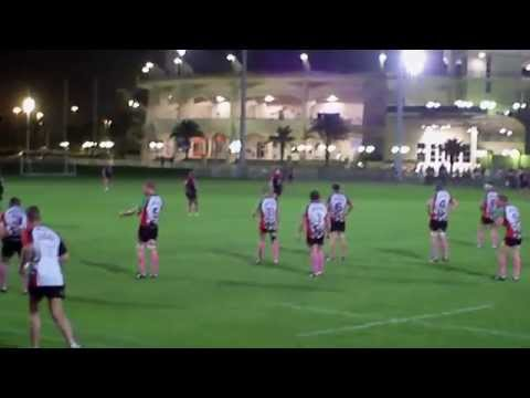 First Half of Abu Dhabi Harlequins vs Abu Dhabi Saracens