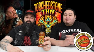 Trying out TORCHED STONE THAI sauce from Torchbearer Sauces and Brimstone! | heavy metal hot sauce